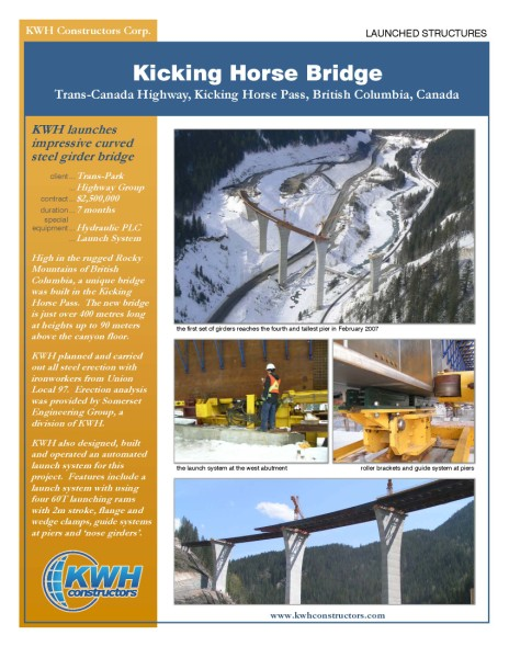 KWH - 2899 Kicking Horse Bridge - Launched Structures - 2007